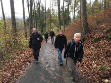 Mutig bergauf ging es bei der Wanderung auf den Moritzberg.